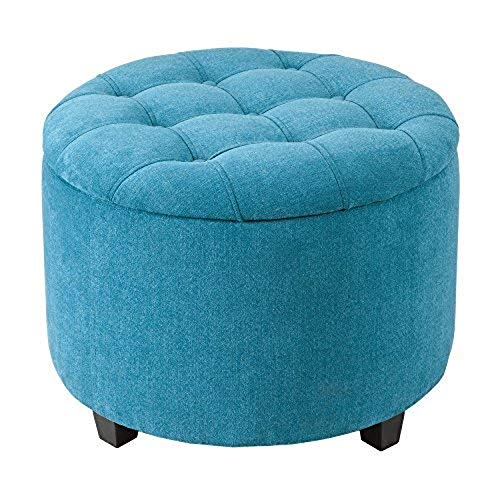 Round Ottoman with Shoe Storage