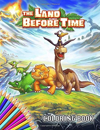 The Land Before Time Coloring Book: 25 Awesome Illustrations for Kids