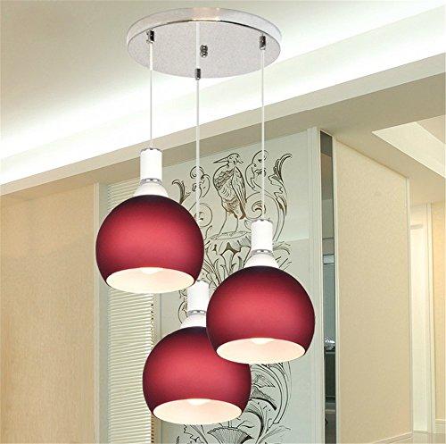 Fondato tre lampadari di testa tavolo da pranzo leggero moderno minimalista ed elegante ristorante lampade e luci