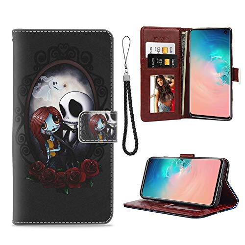 DISNEY COLLECTION Wallet Case Fit for Samsung Galaxy S10+ (6.4-Inch) Nightmare Before Christmas Jack Skellington Flap