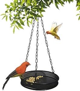 Bird Feeder Hanging Tray, Seed Tray for Bird Feeders, Fruit Tray,Outdoors, Backyard, Garden Garden Decoration (Black)