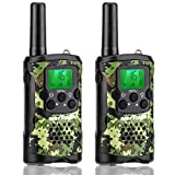 Walkie Talkies for Kids, wesTayin Range Up to 4 Miles Long Range Walkie Talkies 22 Channels with Crystal Sound Walkie Talkies Boy Toy for Kids Toddlers Adults, 2 Pack (Green Camo)