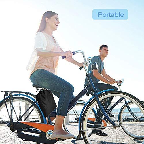 Fahrradabdeckung Wasserdicht. EMIUP Fahrradschutzhülle Fahrradträger für 2 Fahrräder Wasserfest Atmungsaktiv Regenschutz Schutzbezug 200x70x110CM – Schwarz - 6