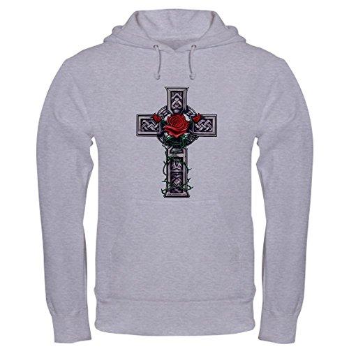 CafePress Cross Celtic Rose Pullover Hoodie, Classic & Comfortable Hooded Sweatshirt