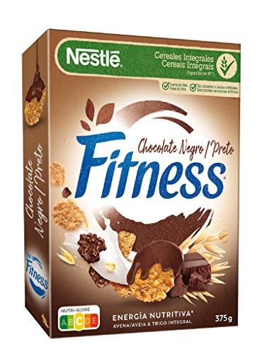 Nestlé Cereales con Chocolate Negro Copos de Trigo Integral, Arroz y Avena Integral, 375g