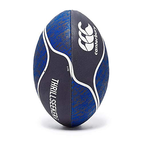 Canterbury - Balón de Rugby Unisex Thrillseeker para Mujer, Color Azul Marino, Morado y Azul, Talla 5