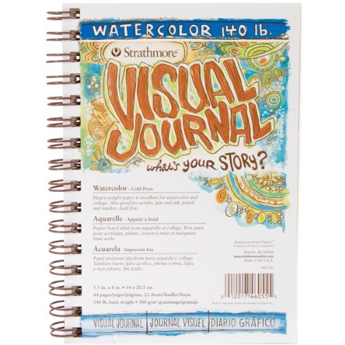 Strathmore Visual Watercolor Journals 140 lb. 5 1/2 in. x 8 in. 22 sheets