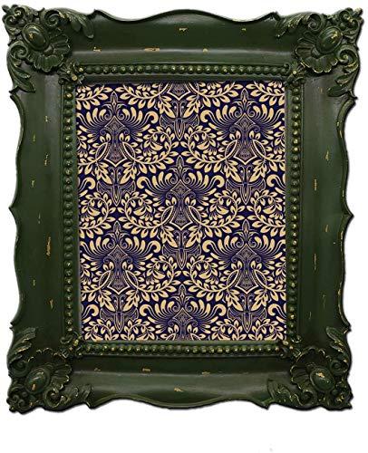 Simon's Shop - Marco de fotos, diseño barroco, color verde, Barroco, Verde, 8 x 10