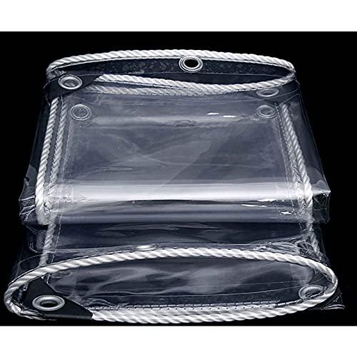 YANFEI Artefakt transparenter wasserdichter Vorhang PVC dicker Regenschutz Winddicht Regenschutz Abdeckplane Kunststoff Segeltuch Schuppen