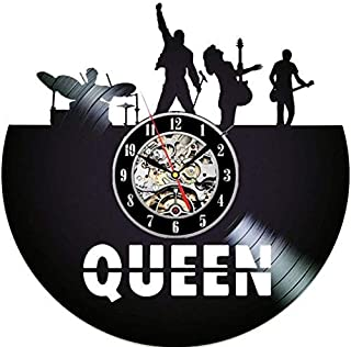 ZZNN Reloj de Pared de Vinilo Queen Rock Band Music Wall Art Decor Vintage 30 CMcjdfn2916