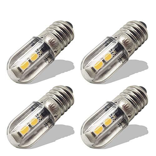 Ruiandsion E10 Ampoule LED 220V 230V AC Voyant LED à économie d'énergie 8mm Base à vis 3030 4SMD Chipsets LED Ampoule de mise à niveau, jaune (lot de 4)