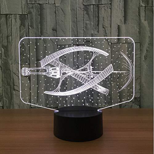 3D Lampes Illusions Optiques Mode Star Wars Lumière Led Dirigeable Éclairage Garçon Décor À La Maison Chambre Lampe De Table Couleurs Ambiance De Noël Sleeping Night Light