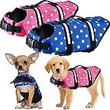 Pateacd Hund Schwimmweste Sommer Hundeschwimmweste für Schwimmtraining Reflektierend Haustier...