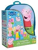 Lisciani - Mochila con construcciones de Peppa Pig para bébés - Juego educativo para niños a partir de 1 año