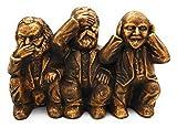 hochwertig und humorvoll Karl Marx Engels Lenin massive Skulptur Handmade Wohnzimmer Deko Bronze-Gold antik Vintage Figuren Dekoration für Wohnung Geschenkidee...