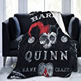 FONDSILVER Harley Quinn Ouija Board Fleece Blanket Twin Size Super Soft Lightweight Luxurious Cozy Plush Hypoallergenic Throw Blanket for Bed Couch Chair Living Room 60'x50'