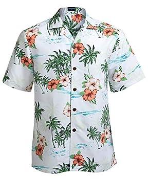 Hawaiian Shirts for Men Short Sleeve Regular Fit Mens Floral Shirts  YH1923,XL