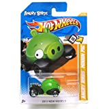Hot Wheels Angry Birds Minion Green Pig 2012 New Models Series #35/50 Green Piggy 1:64 Scale Collectible Die Cast Car