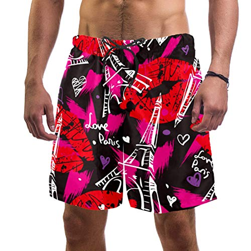 ATOMO Pantalones cortos de natación para hombre, de secado rápido - - Small