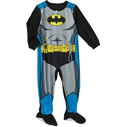 Dc Comics Batman Little Boys Toddler Footed Blanket Sleeper Pajama (5t)