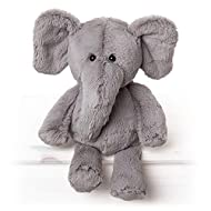 Made from a super soft material, filled with weighted beans. Baby Safe - perfect for tiny hands Hazel the Elephant Large Toy Measures 25cm. Comes with an fun and educational 'Did you know?' fact. Part of the All Creatures Safari Collection