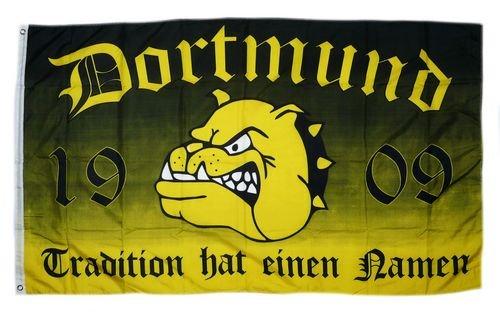 Flagge Fahne Dortmund Tradition Bulldogge 90 x 150 cm