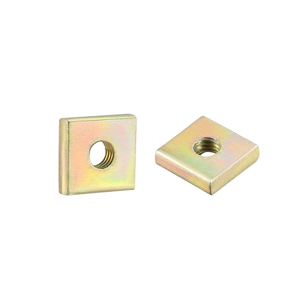 uxcell Square Nuts, M3x8mmx2mm Yellow Zinc Plated Metric Coarse Thread Assortment Kit, 100 Pcs