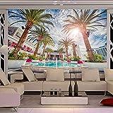 Ponana Fondo De Pantalla Personalizado Foto De Fondo Playa De La Palma De Coco En La Playa Murales Tema De La Sala De Estar Fondo Del Hotel Fondos De Pantalla-400X280Cm