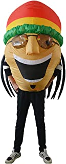HUAYUARTS - Disfraz Inflable de Jamaica, para Adultos, Divertido, para Halloween, para Hombre, Cosplay, Talla Grande