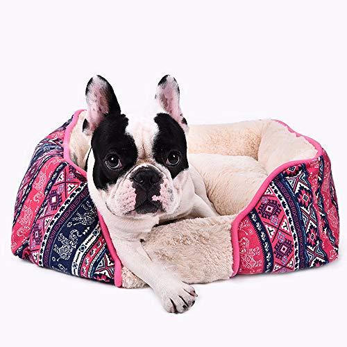MIAO Katzen- / Hundebett-Haustier-Höhle U. Haus-Zwinger Vollständig Entfernbarer Und Waschbarer Großer Haustier-Nest-Kleiner Hundekatzen-Sänfte-Hundepet-Matten,Colorl