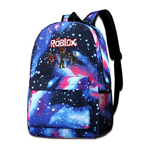 Bookbag Ro-Bl-Ox World Backpack Star Sky Printed Shoulders Bag For Boys Girls