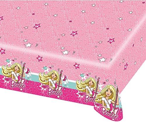 Amscan–999627–Alfombra de mesa Barbie Popstar