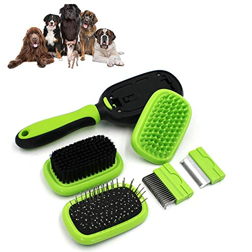 Bvnivcxzem Flea Comb Dog Grooming Brushes and Combs Anti Knot Grooming Comb for Dogs Dog Brushes for Long Haired Dogs Dog Massage Brush Slicker Dog Brush