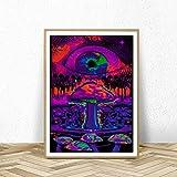 KWzEQ Cartel de ilusión Abstracta psicodélica Moderna póster de Arte de Pared e Impresiones Sala de Estar decoración del hogar,Pintura sin Marco,40X60cm