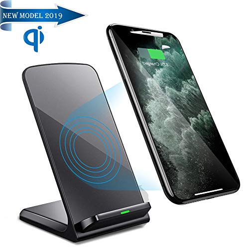 Wireless Phone Charger Stand,QI Fast Wireless Charger for iPhone and Android Wireless Charging Cell Phone(No AC Adapter)