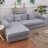 PPMP Muebles de Sala de Estar Funda de sofá de poliéster elástico Funda Protectora Funda de sofá sillón Funda de sofá A28 2 plazas