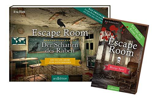 Escape Room - Juego: la sombra del cuervo (libro) + pista sangrienta (juego de cartas).