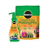 Miracle-Gro Cactus, Palm & Citrus Potting Mix and Succulent Plant Food - Bundle of Potting Soil (8 qt.) and Liquid Plant Food (8 oz.) for Growing and Fertilizing Indoor Succulents