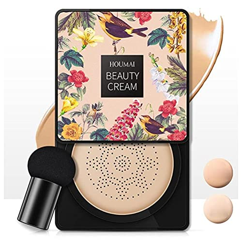 RALMALL Satz von BB Cream CC Creme Concealer Kissen Flawless Foundation Make-up Puder Make-up Basis Primer mit Pilz Luftkissen Gut für Frauen Mädchen - Elfenbein