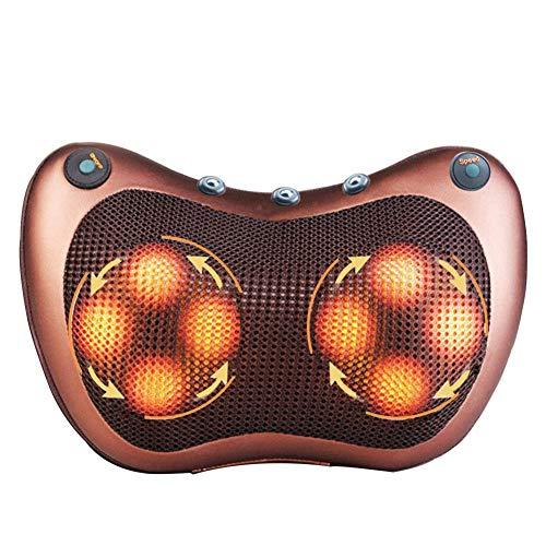 Magnet Doppeltaste Multifunktions-Auto Nach Hause Dual-Use-Massage Kissen Bein Taille Schulter Infrarot-Massage Warm,Braun