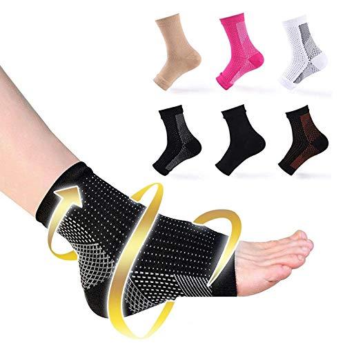 ALILILI 6 Paar Dr Sock Beruhigungssocken Socken gegen Ermüdungskompression Fußstütze Stützstütze Socke (setze D, L/XL)