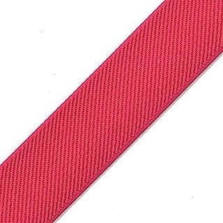4-Yards 2-inch (50mm) Twill Elastic Band Trim, Waistband Elastic, Elastic Trim, Elastic Ribbon, TR-11831 (Hot Pink)