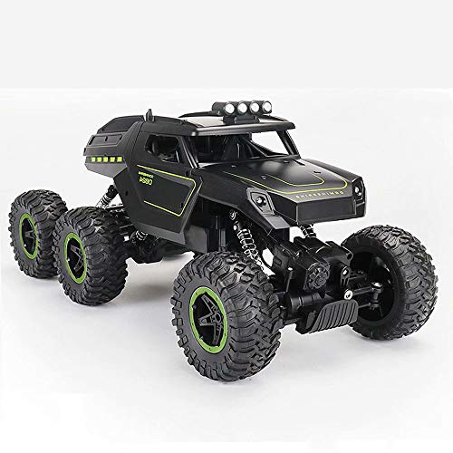 Remote Control Car Six-wheel drive climbing cross country High Speed Electric Vehicle Stunt RC Car, 2.4Ghz Radio remote control with Car front headlights Anti-shock and anti-fall Kids chargeable To