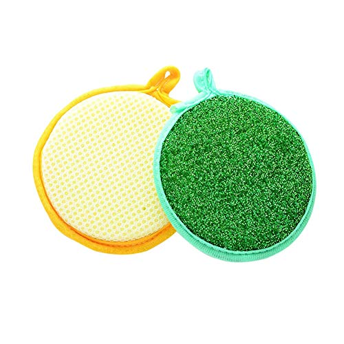 10 Pack Microfiber Scrubbing Pads Dishwashing Scrubber Sponge, Dish Scrub Cloths, Kitchen Scrub Pads, by UTENEW