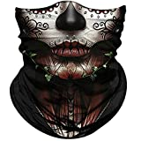 Obacle Skull Face Mask for Women Dust Wind UV Sun Protection...