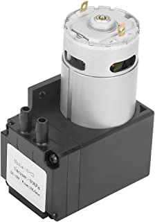Chacerls Mini Vacuum Pump, Vacuum Pump DC12V 12W Mini Small Oilless Vacuum Pump ‑80KPa Flow 12L/min for Gas