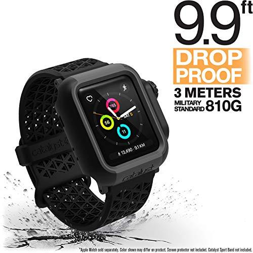 Catalyst Apple Watch 38 mm Cover Serie 3 e Serie 2 - Custodia Antiurto Grado Militare Protezione Apple Watch Series 2 Series 3 [Robusta Custodia Antiurto per iWatch] - Nero