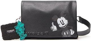 Desigual Mickey Mouse Umhängetasche in Lederoptik Anhänger Dortmund Flap 21WAXPA0