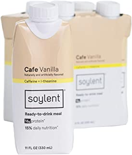 Soylent Meal Replacement Shake, Cafe Vanilla 11 Fl Oz,Pack of 4