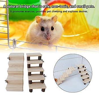 Feunet Échelle en bois pour hamster, perroquet, escalier debout pour animaux domestiques, jeux de décoration